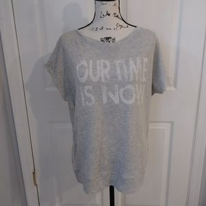 Boy meets girl t-shirt gray color size M/L